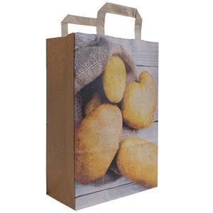 Levering uit voorraad 50x papieren tassen Aardappel 22x10x31cm