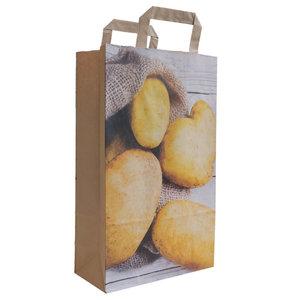 Levering uit voorraad 50x papieren tassen Aardappel 22x10x36cm