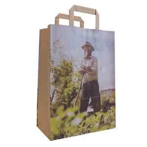 50x papieren tassen Landleven 26x12x35cm
