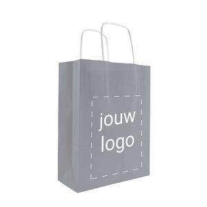 Papieren tassen A5 Grijs met 1 of 2 kleuren bedrukt