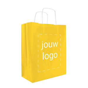 Papieren tassen A4 Geel met 1 of 2 kleuren bedrukt