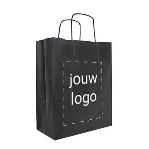 Papieren tassen A4 Zwart met 1 of 2 kleuren bedrukt