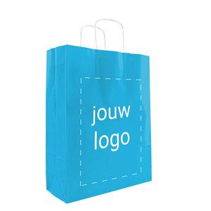 Papieren tassen A3 Turquoise met 1 of 2 kleuren bedrukt