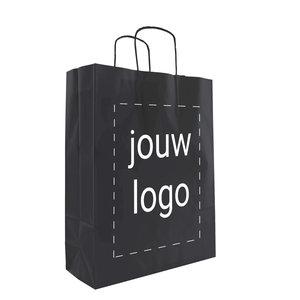 Papieren tassen A3 Zwart met 1 of 2 kleuren bedrukt