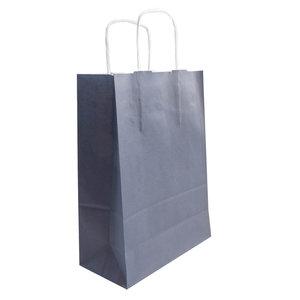 Levering uit voorraad 50x papieren tassen Blauw (navy) in diverse formaten