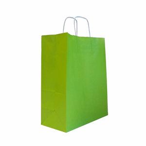 Levering uit voorraad 50x papieren tassen Groen in diverse formaten