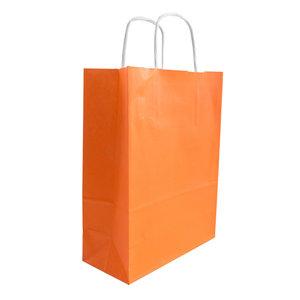 Levering uit voorraad 50x papieren tassen Oranje in diverse formaten