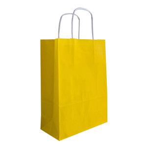 Levering uit voorraad 50x papieren tassen Geel in diverse formaten