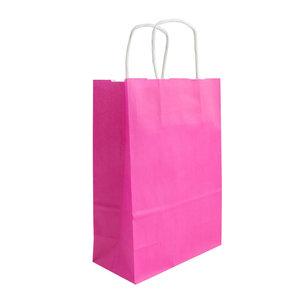 Levering uit voorraad 50x papieren tassen Fuchsia in diverse formaten