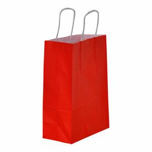 Levering uit voorraad 50x papieren tassen Rood in diverse formaten
