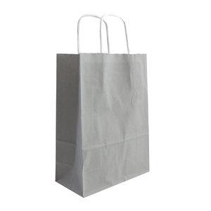 Levering uit voorraad 50x papieren tassen Grijs in diverse formaten