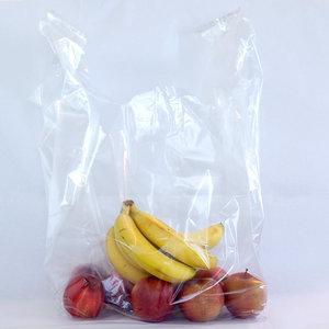 Levering uit voorraad 400x plastic tassen hemdmodel 37x(2x17)x70cm