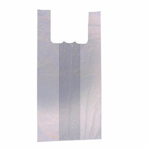 Levering uit voorraad 2000x Plastic tassen hemdmodel 27x12x48cm wit