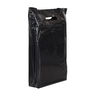 500x Plastic tassen 45x50+2x4cm zwart
