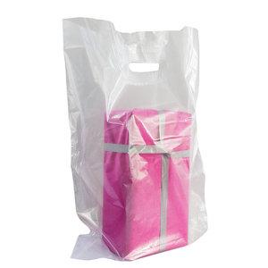 400x Plastic tassen 45x56+2x4 transparant