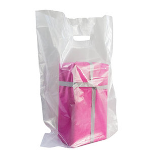 Levering uit voorraad 500x Plastic tassen 37x44+2x4cm transparant