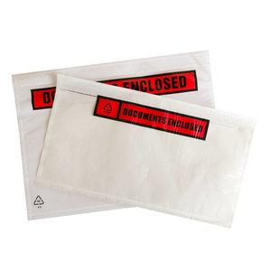 """Levering uit voorraad Paklijstenveloppen """"Documents Enclosed"""" per 1000 verpakt"""