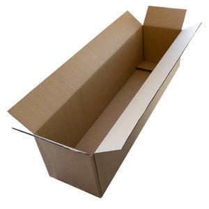 Langwerpige bruine dozen enkelgolf 620x150x150mm