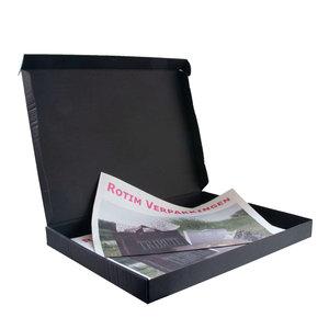 Levering uit voorraad 100x brievenbusdoos A4 Zwart