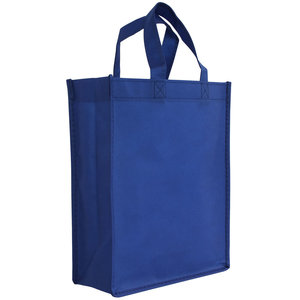 Non woven Tas Blauw 24x10x30cm