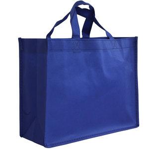 Non woven Tas Blauw 32x12x25cm