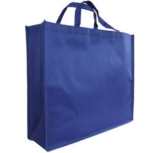 Levering uit voorraad Shopper Blauw non woven 54x14x45cm