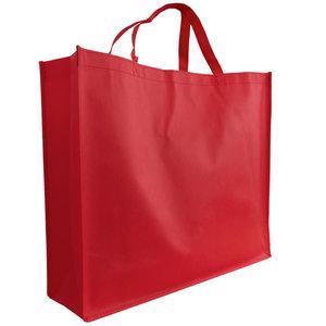Shopper Rood non woven 54x14x45cm