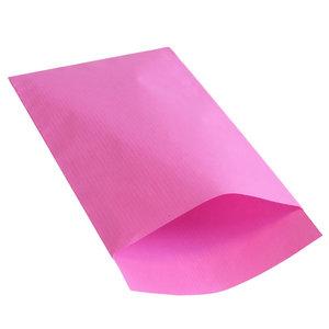 Levering uit voorraad 250x papieren zakjes Roze 17,5x25cm
