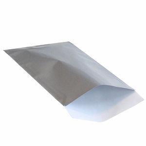 Levering uit voorraad 200x papieren zakjes Zilver 17,5x25cm