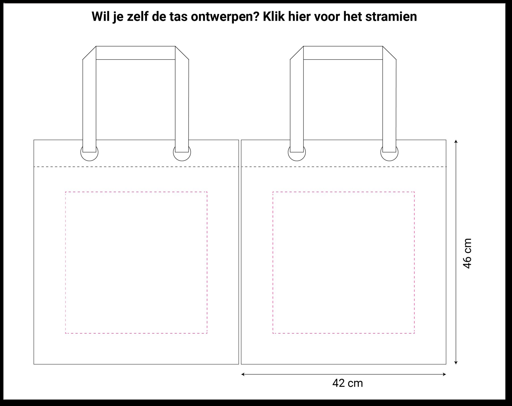 Non woven shopper grijs 42x14x46cm