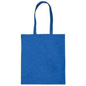 Katoenen tas Koninklijk blauw 38x42cm