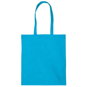Levertijd ca. 3 werkdagen Katoenen tas Turquoise 38x42cm