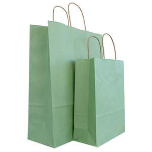 50x graspapier tassen Groen