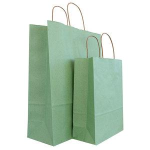 Levering uit voorraad 50x graspapier tassen Groen