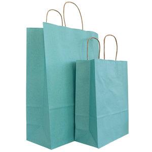 50x graspapier tassen Blauw