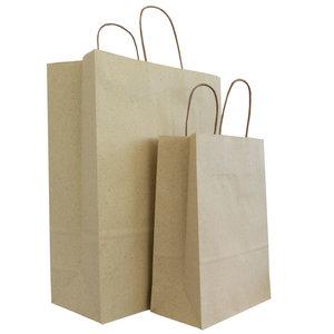 Levering uit voorraad 50x graspapier tassen Zand