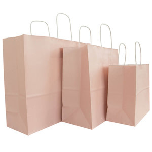 50x papieren tassen Oud roze