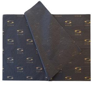 Levertijd ca. 3 weken Zwart vloeipapier bedrukken Zilver/goud 70x100cm 17 grams