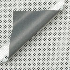 Levertijd ca. 3 werkdagen Inpakpapier  30cm x 100mtr - Zilveren stippen