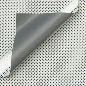 Levertijd ca. 3 werkdagen Inpakpapier Wit/Zilver Stippen 50cm x 100mtr