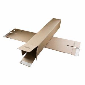 Levering uit voorraad Verzendkoker vierkant 860x105x105mm  per 10 verpakt