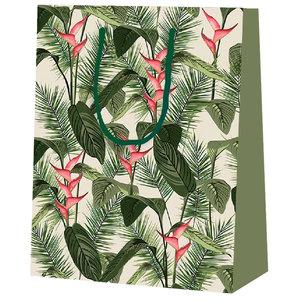 Levering uit voorraad 25x cadeautasjes Tropical plant A4