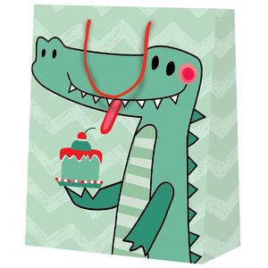 25x cadeautasjes Krokodil A5
