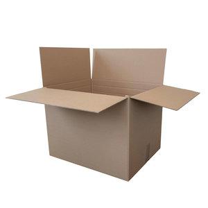 Levering uit voorraad Kartonnen dozen bruin dubbelgolf 600x460x305mm rillijn