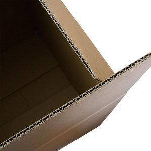 Kartonnen dozen bruin dubbelgolf 488x388x377mm