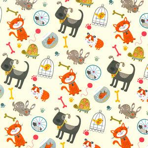 Levertijd ca. 3 werkdagen Inpakpapier Wit + dierenprint 50cm x 200mtr