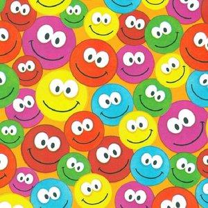 Levertijd ca. 3 werkdagen Inpakpapier Smileys 30cm x 200mtr