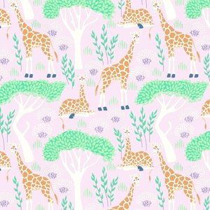 Levertijd ca. 3 werkdagen Inpakpapier ECO Safari/giraf print 50cm x 200mtr