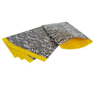 200x papieren zakjes Zebra 17x25cm