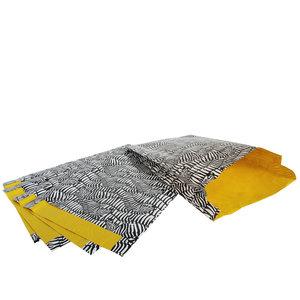 100x papieren zakjes Zebra 25x4x34cm